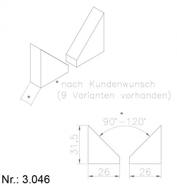 PU Nocken Mitnehmer Aufschweißprofil 3046