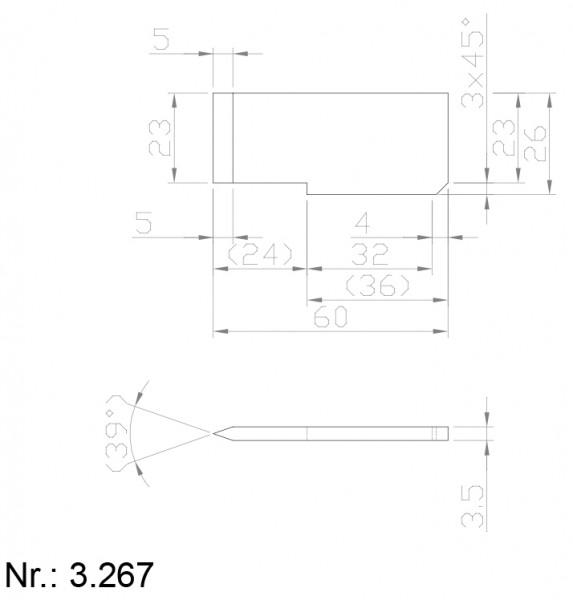 PU Nocken Mitnehmer Aufschweißprofil 3267