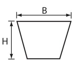 VFC 13x8 (A) Volta PU Keilriemen weiß