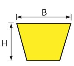 VH 13x8 (A) Volta PU Keilriemen gelb