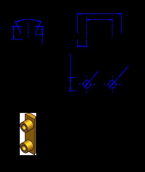 25AT10 Messing Nockenverbinder / Einlegeschiene / Ersatzzahn