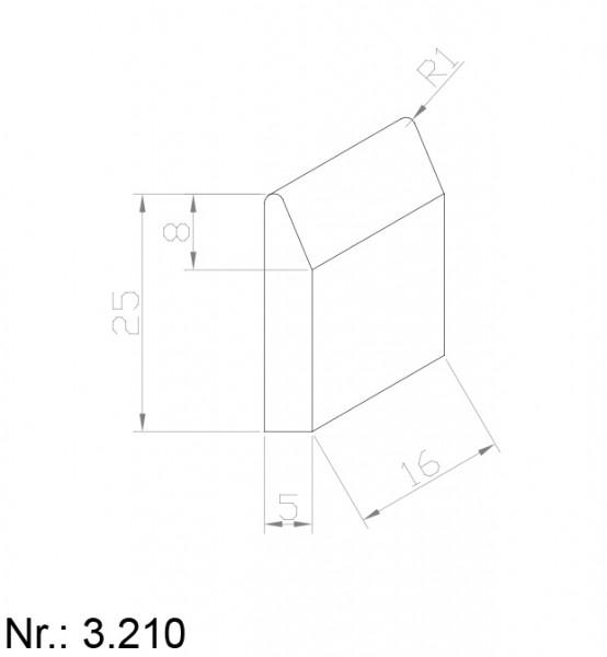 PU Nocken Mitnehmer Aufschweißprofil 3210