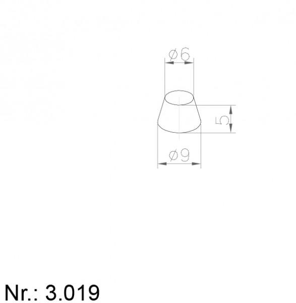 PU Nocken Mitnehmer Aufschweißprofil 3019