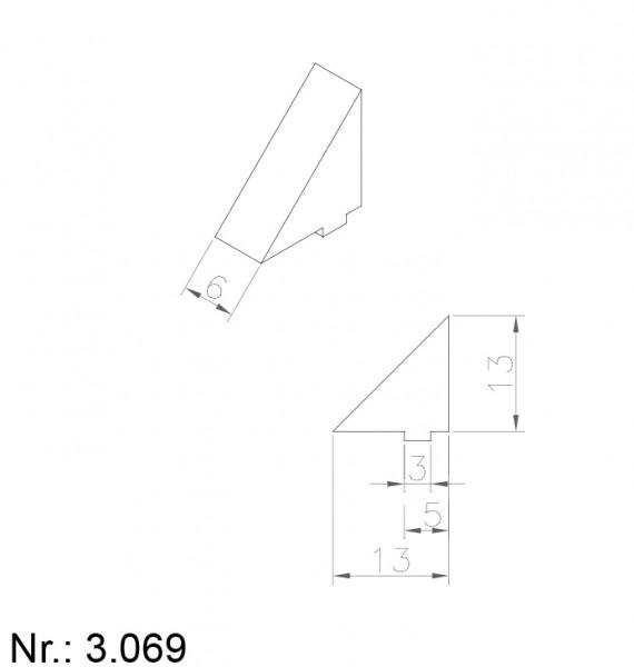 PU Nocken Mitnehmer Aufschweißprofil 3069