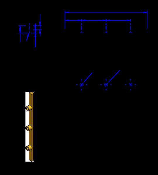 85HTD8 Messing Nockenverbinder / Einlegeschiene / Ersatzzahn