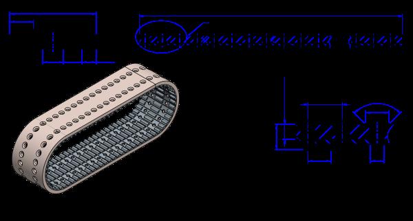 PU Zahnriemen 75T10-750 Correx 6,4 Vakuum gelocht