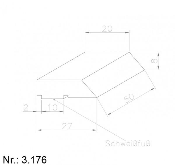 PU Nocken Mitnehmer Aufschweißprofil 3176