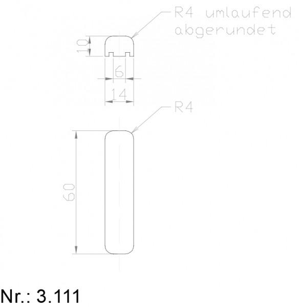 PU Nocken Mitnehmer Aufschweißprofil 3111