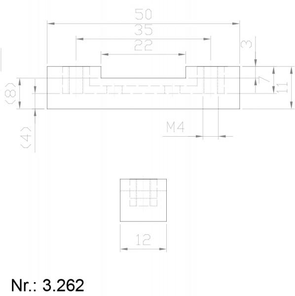 PU Nocken Mitnehmer Aufschweißprofil 3262