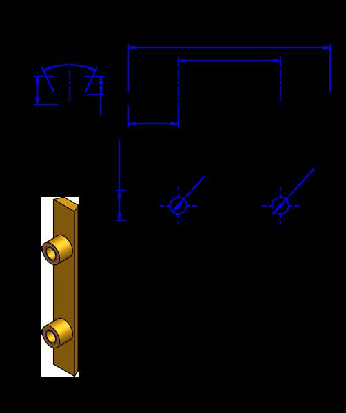 50AT10 Messing Nockenverbinder / Einlegeschiene / Ersatzzahn