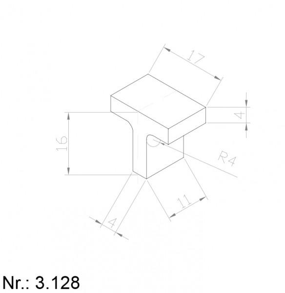 PU Nocken Mitnehmer Aufschweißprofil 3128-Copy
