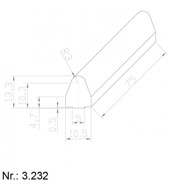PU Nocken Mitnehmer Aufschweißprofil 3232