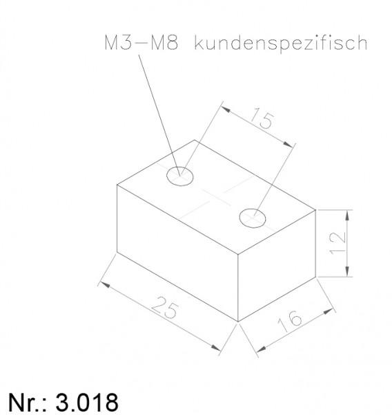 PU Nocken Mitnehmer Aufschweißprofil 3018