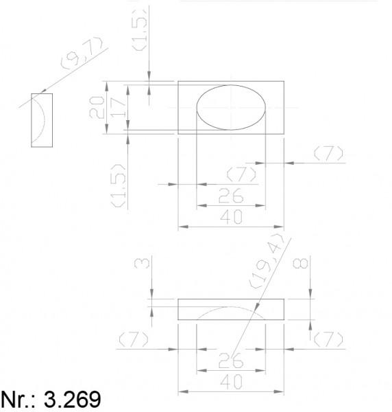 PU Nocken Mitnehmer Aufschweißprofil 3269