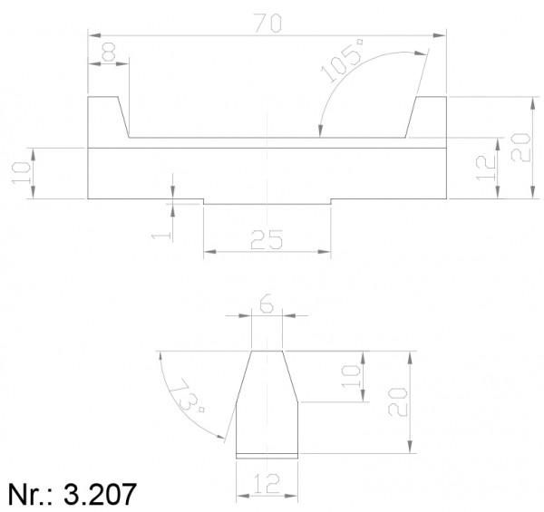 PU Nocken Mitnehmer Aufschweißprofil 3207