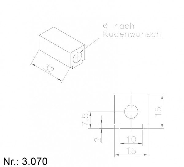 PU Nocken Mitnehmer Aufschweißprofil 3070