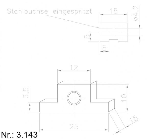 PU Nocken Mitnehmer Aufschweißprofil 3143