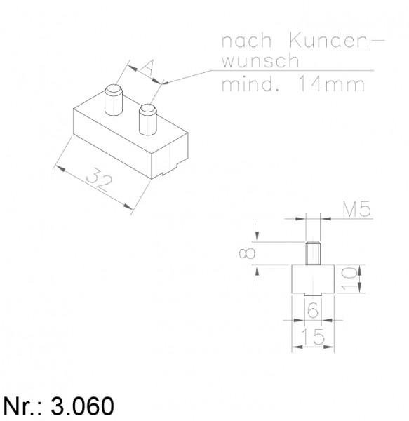 PU Nocken Mitnehmer Aufschweißprofil 3060