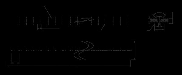Neopren Vakuum-Zahnriemen 390L150 mit 7 mm Linatex