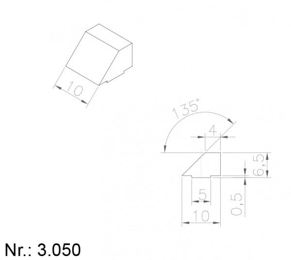PU Nocken Mitnehmer Aufschweißprofil 3050
