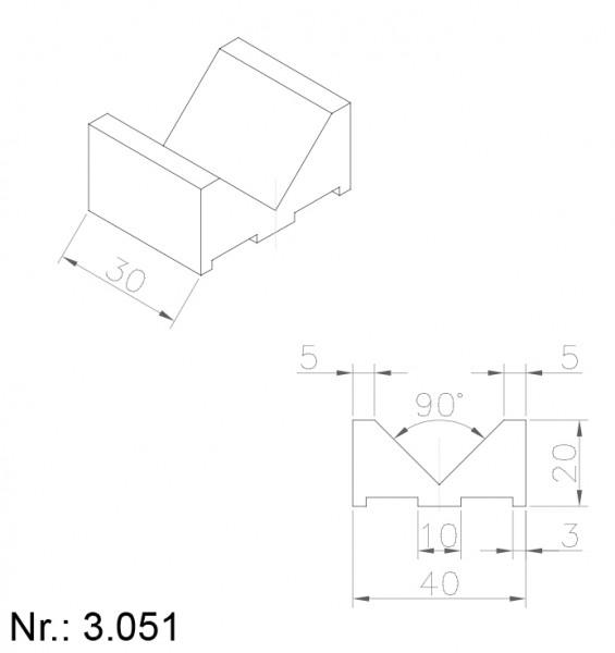 PU Nocken Mitnehmer Aufschweißprofil 3051