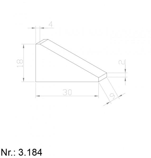 PU Nocken Mitnehmer Aufschweißprofil 3184