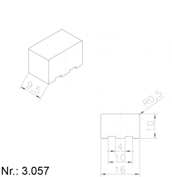 PU Nocken Mitnehmer Aufschweißprofil 3057