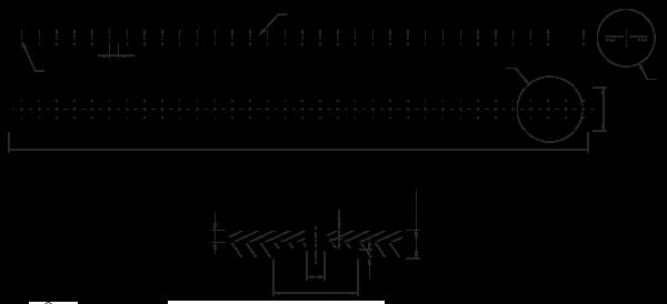 PU Zahnriemen Absugsriemen 50t10-660 mit PU gelb Beschichtung