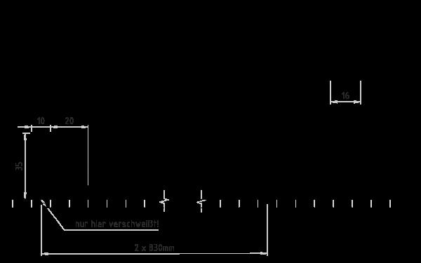 PU Zahnriemen 16T10-1660 verschweisste Nocken