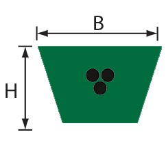 VPZS 22x14,50 (C) Volta PU Keilriemen grün mit Zugträger