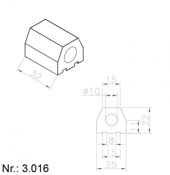 PU Nocken Mitnehmer Aufschweißprofil 3016
