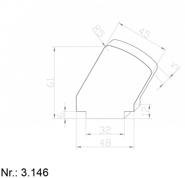 PU Nocken Mitnehmer Aufschweißprofil 3146