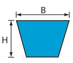 VMS 17x11,5 (B) Volta PU Keilriemen blau